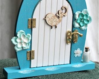 Turquoise Fairy Door