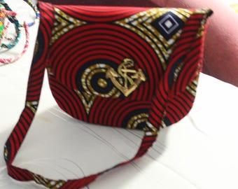 Made using African print bag