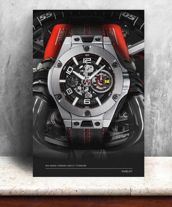 Hublot Big Bang Ferrari Druck Auf Leinwand Fette Grafik Etsy