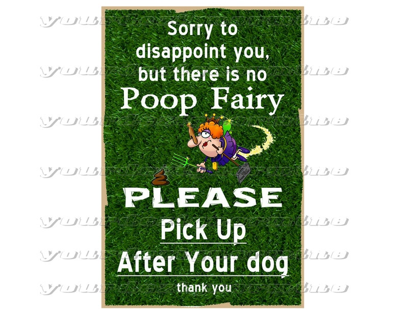 Pick Up After Your Dog There Is No Poop Fairy 8x12 Metal Print Etsy