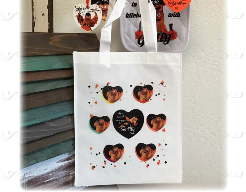 0656920ada3b My Heart belongs to GRITTY Sweethearts gift bag tote polyester