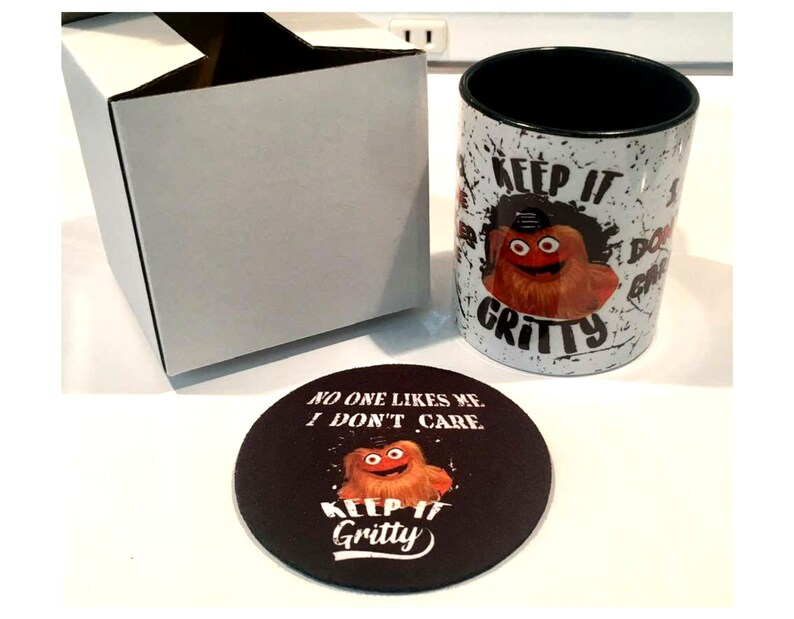 486a3eef213 No One Likes Me I don t Care GRITTY MUG and COASTER Set