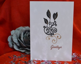 Handmade Goodbye Card