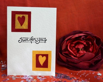 Handmade Just For You Card