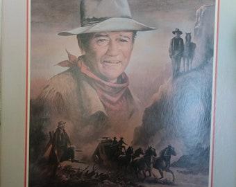 Vintage John Wayne print