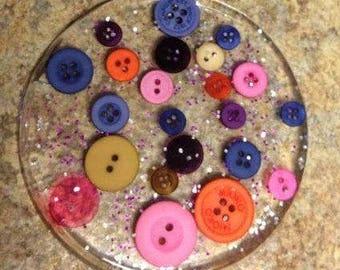 Glitter Coasters! (set of 4)