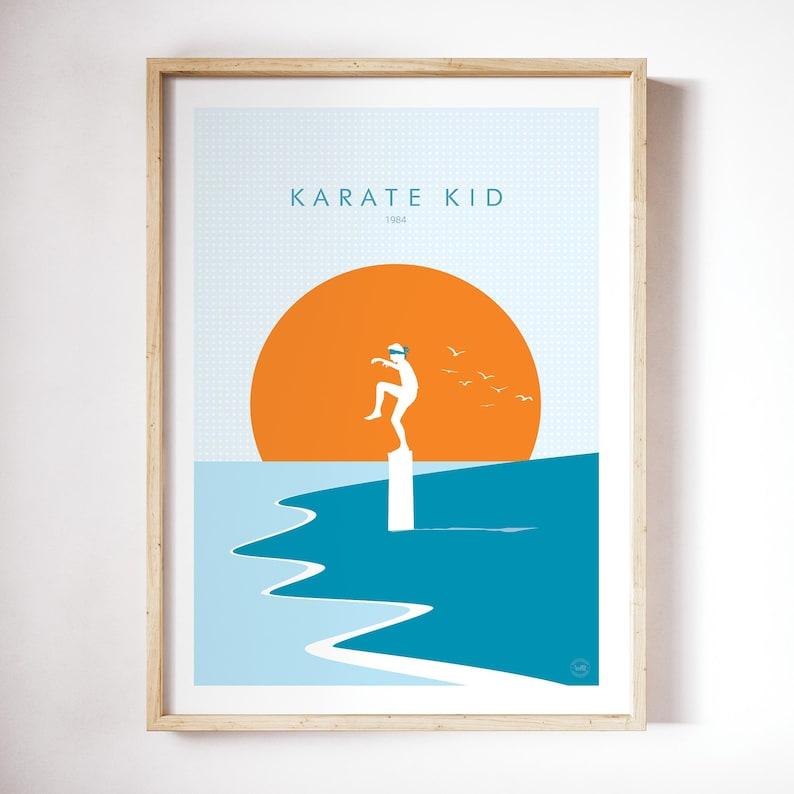 Karate Kid Poster Print Minimalist Poster Wall Art giclee image 0