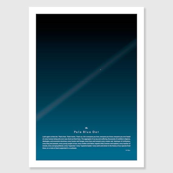 NASAs Pale Blue Dot from Voyager  Canvas Box Art// Photo Print A4-A0