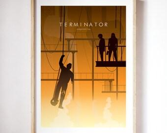 Terminator 2 | minimalist poster | Geek decor  | Home Decor | Wall art | movie Poster