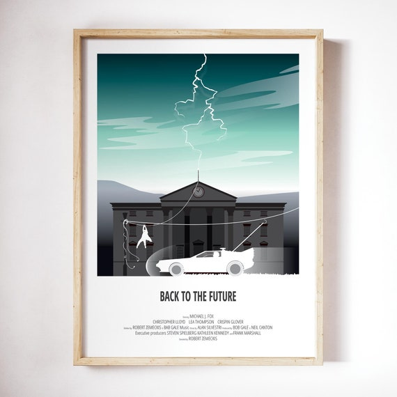 Back To The Future Alternative Art Poster Print Home Decor Etsy