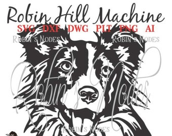 Border Collie Dog SVG file ~ detailed vector for laser and Cricut  ~  Digital Download ~ AI DXF eps pdf plt png ~ cut ready pet furbaby