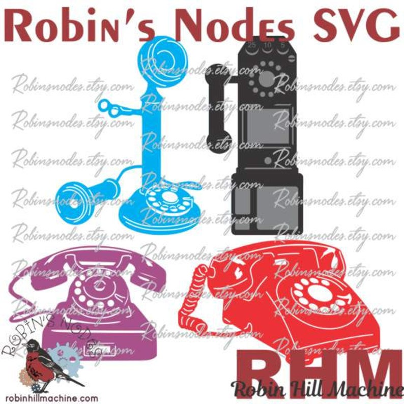 Vintage Phones SVG file Set ~ vector for laser and Cricut ~ Digital  Download ~ AI DXF pdf plt ~ rotary telephone payphone old antique cut