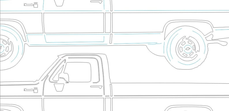 Chevrolet Chevy GMC C20 1980 Truck files ~ detailed vector for cnc plasma,  laser and Cricut ~ Digital download~ AI DXF eps pdf plt png