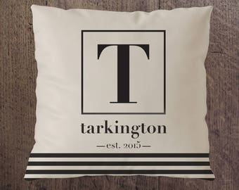 Modern 18 x 18 Personalized Pillow Cover Options / Monogrammed Pillows / Initial Pillow / Custom Pillow / Personalized Wedding Gifts