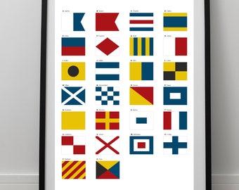 Nautical Flag Print