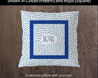 Preppy Brushstroke Polka Dot Pillow / Monogrammed Pillows / Initial Pillow / Custom Pillow / Personalized Gift