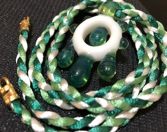 heady glass pendants with custom braided necklaces - Heady Glass Pendants