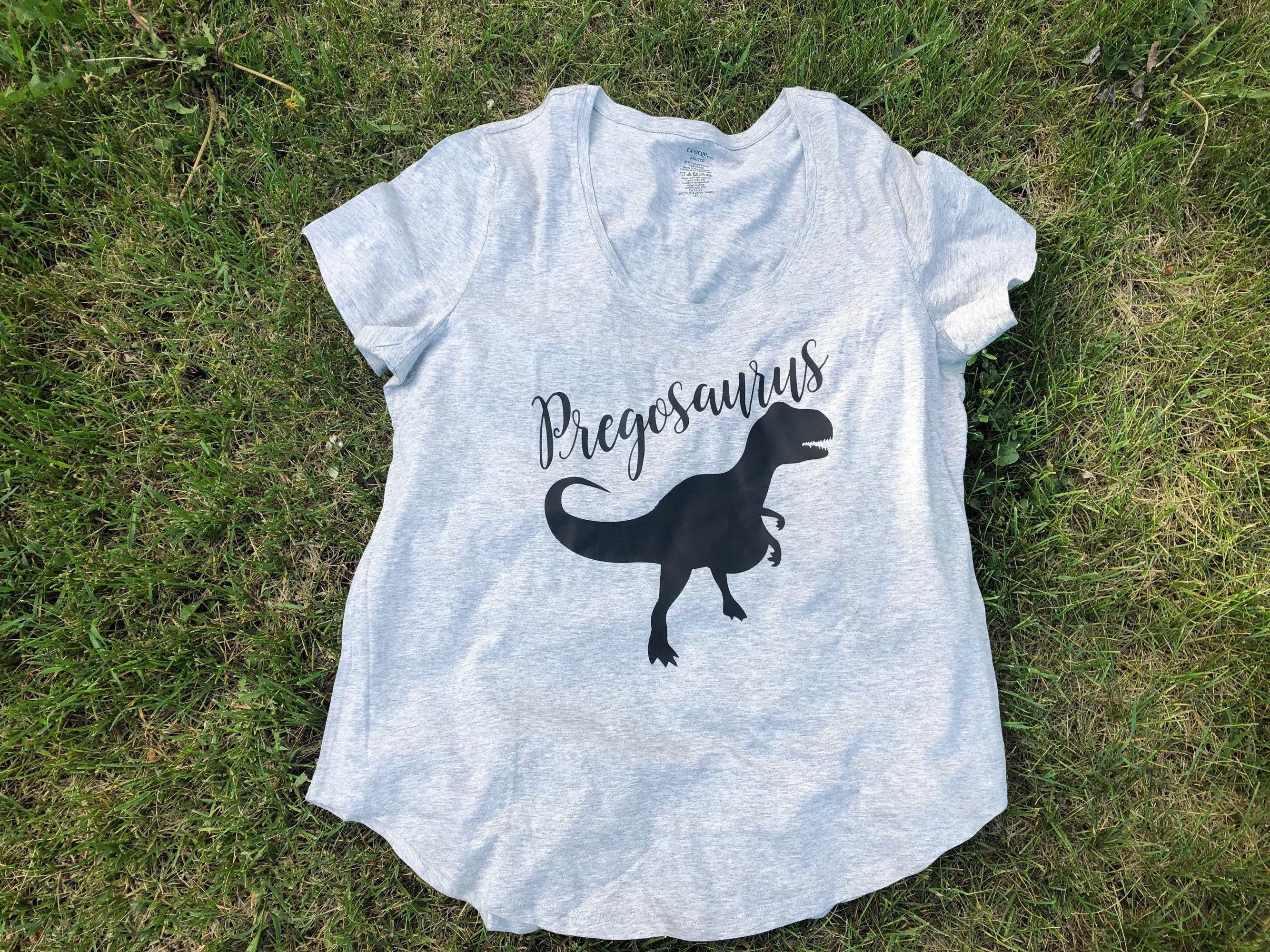 Pregosaurus Shirt Mama To Be Future Mom Baby Shower Gift Cute Birthday Present Mommy
