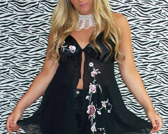 Kiss From A Rose Silk Sheer Tank