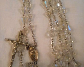 Crystal Faceted Wedding Bell Bead Rosary