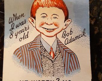 Collectible Bob Adamcik's Cafe matchbook (large size!) 1960s