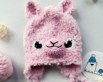 8ea85c477fd Llama gift Baby llama hat Llama beanie Funny gift crochet present for new  parents alpaca hat Knit llama hat animal hats llama wool hat