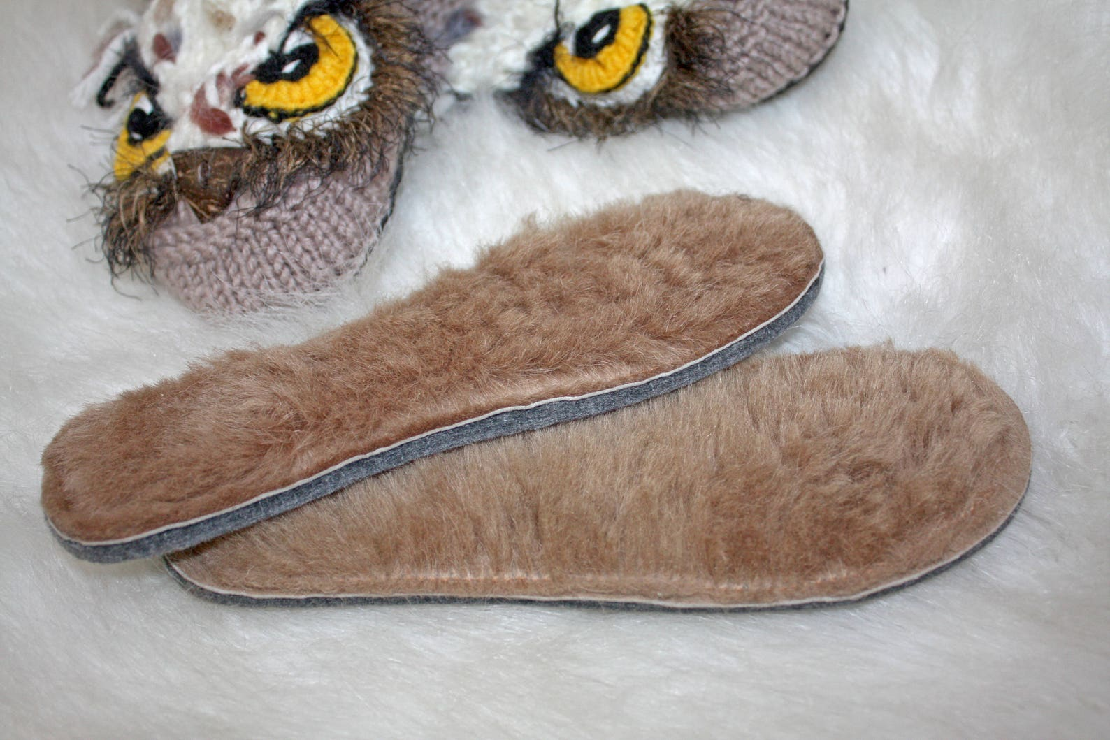 owl ballet style slippers wool slippers with natural leather soles home wool shoes owl handmade crochet owl slippers