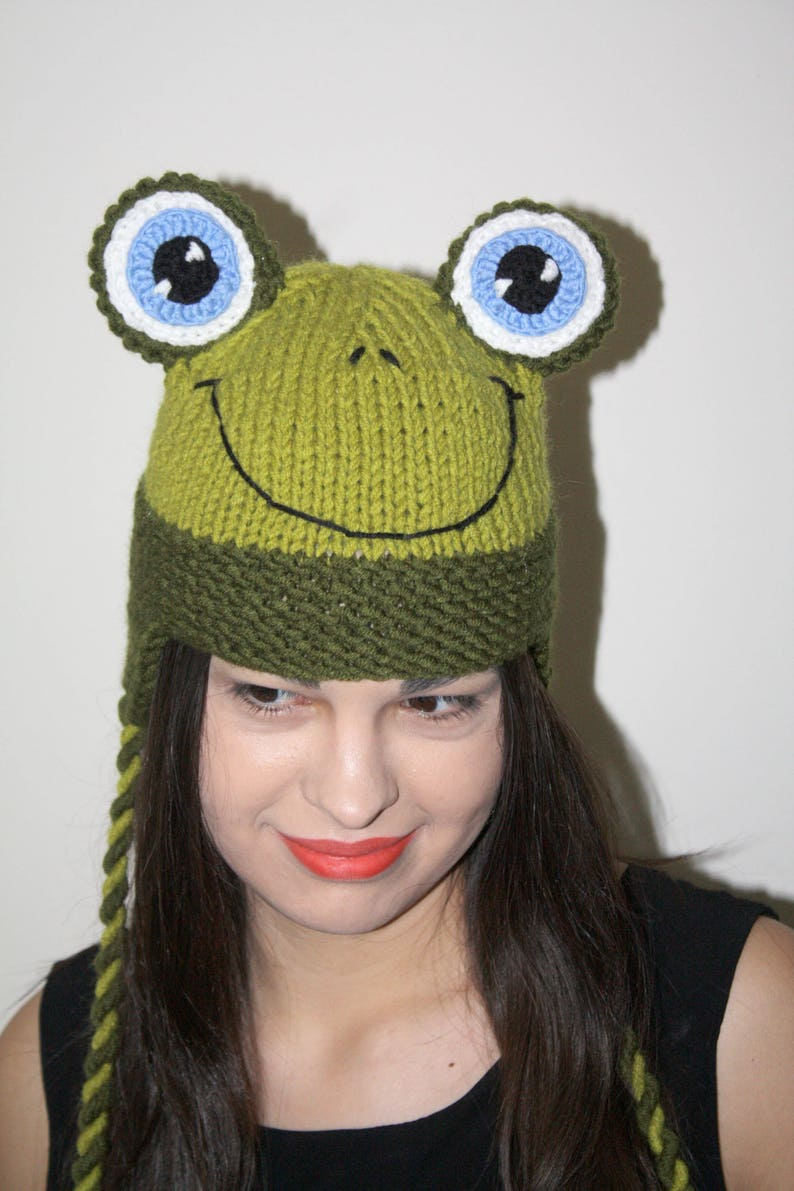 Happy frog Handmade Frog Hat for babies children and adults  cbc011642c8