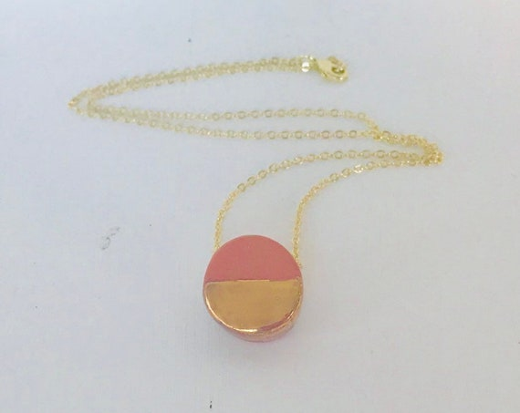 Golden Terra-Cotta Diffuser Necklace