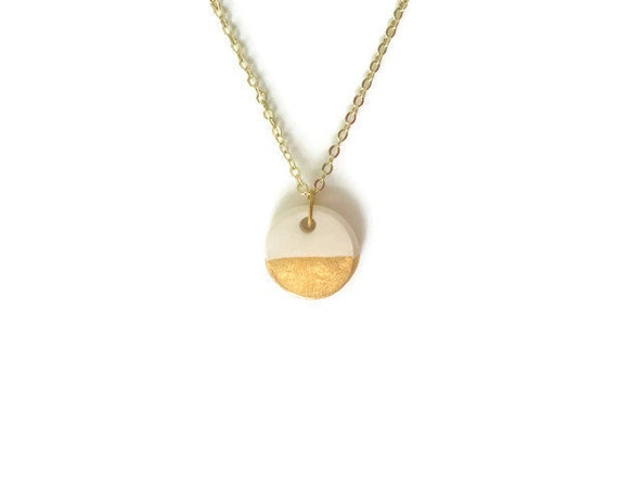 Gold Dipped, Essential Oil Diffuser Necklace, Essential Oil Included, Minimalist, Boho, Simple, Chic, Elegant