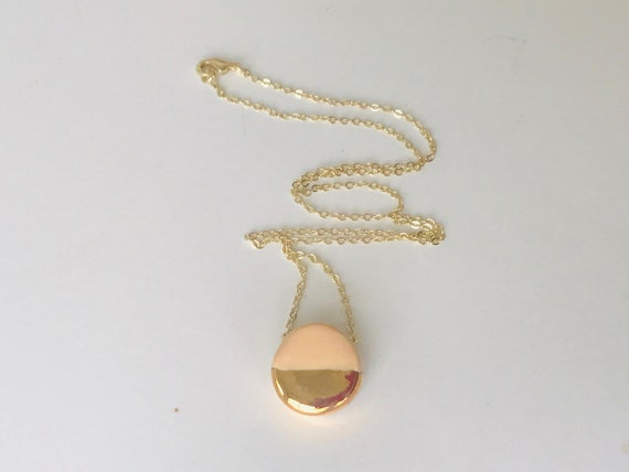 Golden Beige Diffuser Necklace