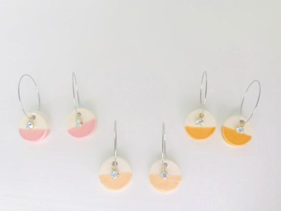 Diffuser Earrings, Hoop Earrings, Essential Oil Diffuser Earrings, Essential Oil Included, Minimalist, Simple, Chic, Elegant, Geometric