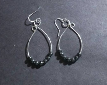 Black Malachite Teardrops