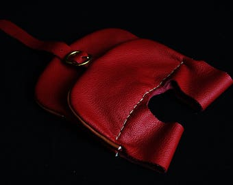 Cosplay red pouch with pockets LARP