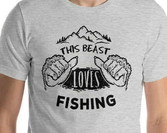Fly Fishing, Graphic T-shirt, Sasquatch, Bigfoot, T-shirts with Sayings, Fishing, Fisherman, Gift for Him, Fishing Reel, Fishing Gift