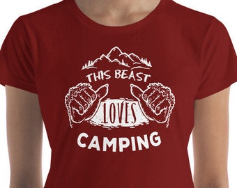 Mothers Day, Camper, Graphic Tee, Novelty Shirt, Gift for Her, Trending Now, Camping Gift, Gift for Women, Girlfriend Gift, Bigfoot, Tee