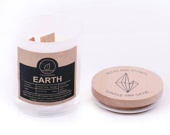 Crystal Candles - The Elements (Air) Amethyst