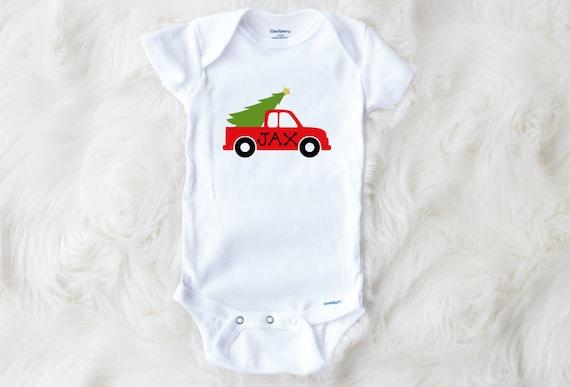 Christmas Tree Onesie.Personalized Christmas Onesie Christmas Tree Truck Onesie Baby Name Christmas Onesie Baby Xmas Christmas Outfit Christmas Bodysuit