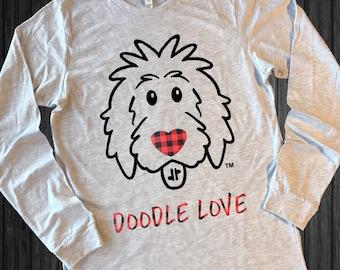 Doodle Love Buffalo Plaid Shirt, doodle shirt, doodle mom shirt, doodle love shirt, dog lover shirt, goldendoodle, buffalo plaid