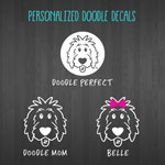 Personalized Doodle Decals - doodle decal, dog decal, goldendoodle decal, doodle sticker, dog sticker, doodle mom, doodle dad