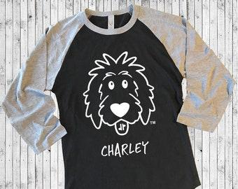 3/4 Sleeve Doodle Shirt Personalized - doodle mom shirt, dog lover shirt, dog mom shirt, sheepadoodle shirt, goldendoodle shirt
