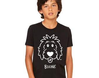 Kids Personalized Doodle Shirts, youth doodle shirt, kids dog shirt, doodle sister, doodle brother