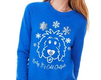 Snowflake Doodle Shirts Royal Blue, Christmas doodle, doodle Christmas, doodle sweatshirt, goldendoodle shirt, sheepadoodle mom, doodle mom