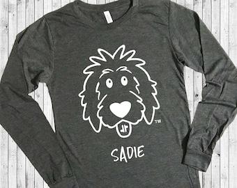 Doodle Shirt Long Sleeve Personalized, doodle mom shirt, doodle dad, doodle shirt, doodle sweatshirt, goldendoodle shirt, dog mom, dog dad