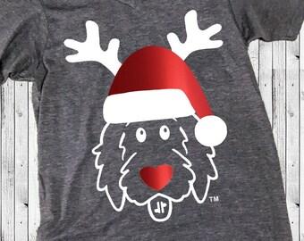 Rudolph Doodle Grey Shirt, Christmas doodle shirt, Rudolf shirt, Christmas shirt, doodle Christmas shirt, doodle shirt, Christmas dog