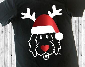 Rudolph Doodle Black Shirts, Christmas doodle shirt, Rudolf shirt, Christmas shirt, doodle Christmas shirt, doodle shirt