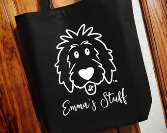 Personalized Doodle Tote Bags, doodle tote, doodle bag, doodle mom, dog mom bag, goldendoodle bag