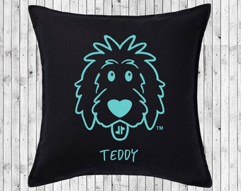 "Personalized Doodle Pillow Cover 18""x18"" - doodle pillow, dog pillow, dog bed, doodle mom, goldendoodle, sheepadoodle, labradoodle, poodle"