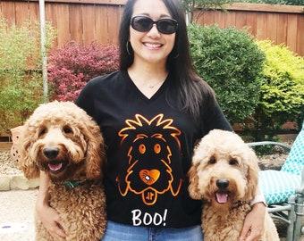 Halloween Doodle Shirt, Halloween shirt, Halloween dog shirt, doodle mom shirt, dog mom shirt, doodle dad shirt, dog dad shirt