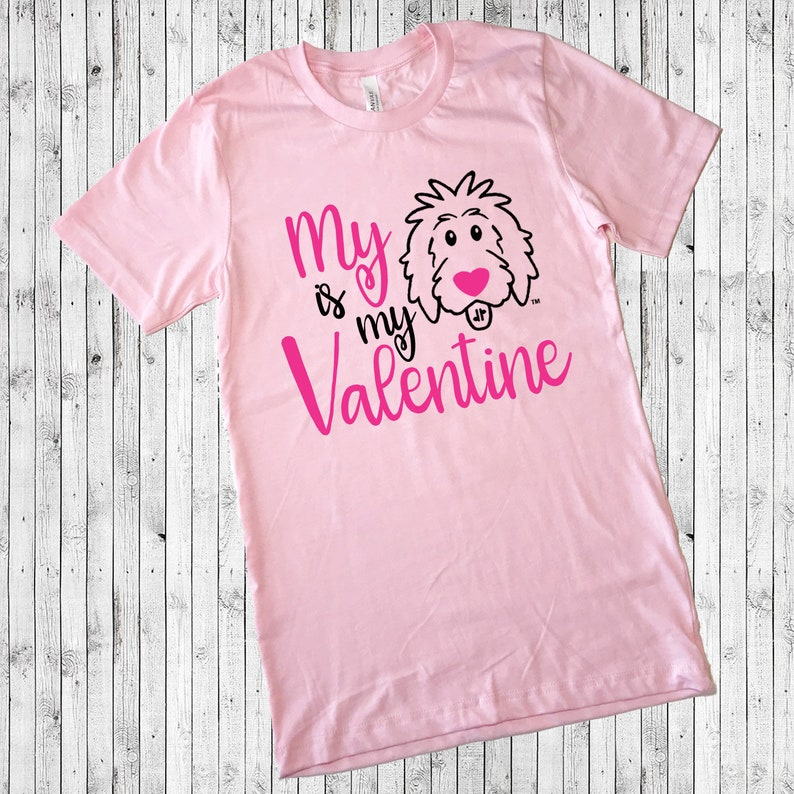 Pink Valentine Doodle Shirts  My Doodle is My Valentine image 0